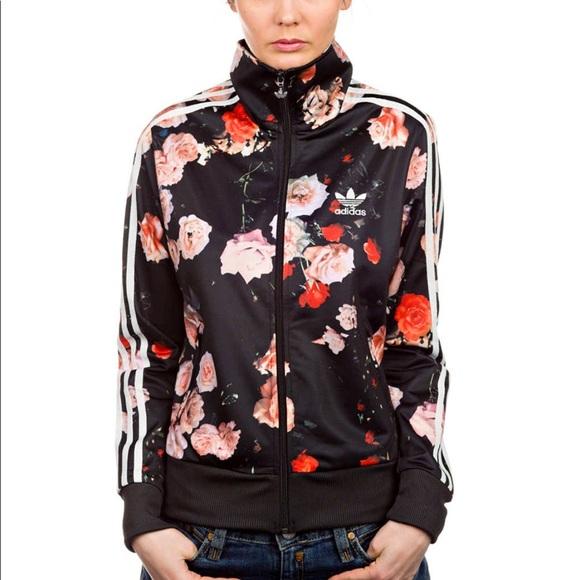 Estrella datos Salida  adidas Jackets & Coats | Nwt Black Rose Firebird Tt Jacket Sz 36 | Poshmark